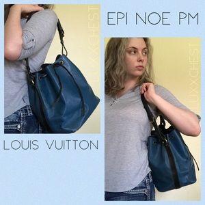 Louis Vuitton Epi Blue Black Noe PM